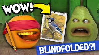 Annoying Orange - Blindfolded Drawing Challenge!