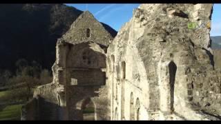 L'Abbaye d'Aulps vue du Drone