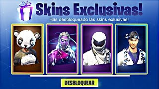HOW TO UNLOCK EVERY SKIN NOT PUBLISHED AND RARA FREE IN Fortnite...
