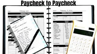 Paycheck to Paycheck: Weekly Budget With Me #budgetwithme