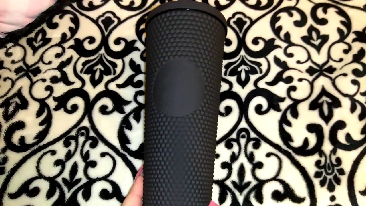 Rare Matte Black Studded Starbucks Tumbler Love It
