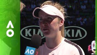 Elina Svitolina on court interview (3R) | Australian Open 2018
