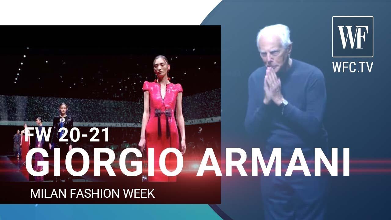 Giorgio Armani fall/winter 20-21 Milan fashion week