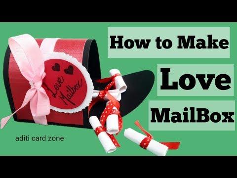 Love mail box | Handmade gifts for boyfriend | Valentine cards handmade | Unique love letter |