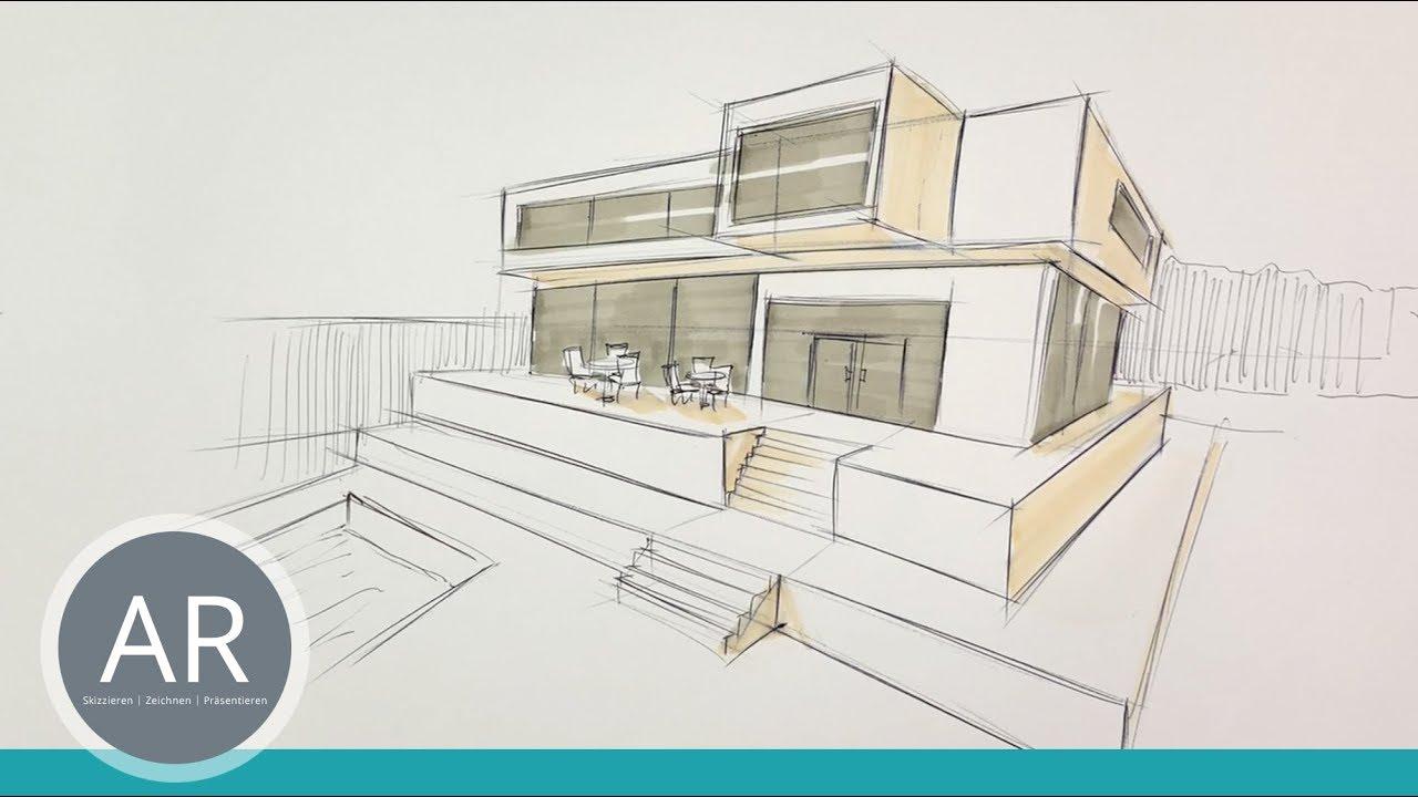 Hauser Schnell Zeichnen Zweipunktperspektive Architektur Mappenkurs Munchen Nach Der Fos