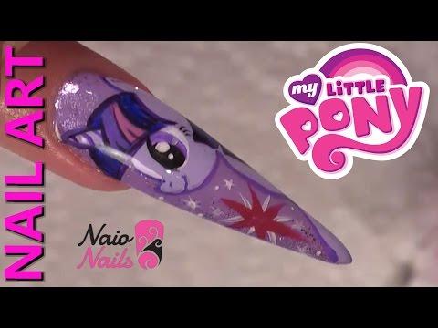 Nail Art - Twilight Sparkle - My Little Pony Design