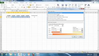 """3. Conditional Formatting (""""cell equal to"""") in Excel 2010."""