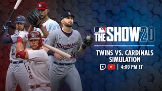 Twins vs. Cardinals - MLB The Show Live Game Simulation