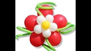 Как сделать ромашку из шаров, объёмная ромашка из шариков/Daisy out of the bowl