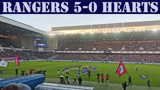 Rangers 5-0 Hearts - Match Atmosphere & Fan Review | Rangers 10,000th Goal! Video