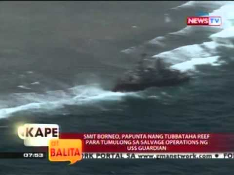 SMIT Borneo, papunta nang Tubbataha Reef para sumulong sa salvage operations ng USS Guardian