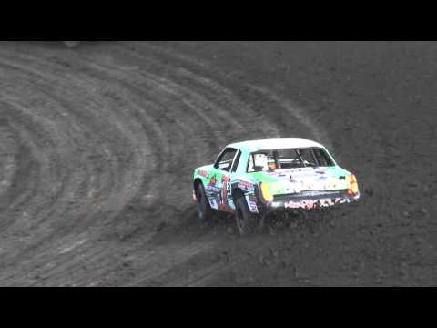 IMCA Hobby Stock Car Heat 3 Benton County Speedway 4/17/16
