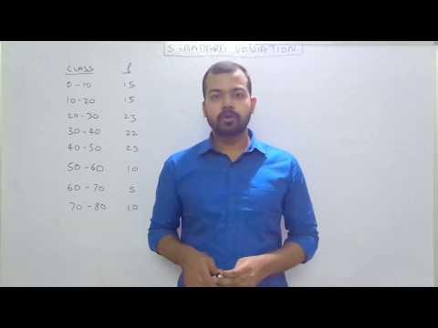 Standard Deviation Continous series (by SANAT SHRIVASTAVA)