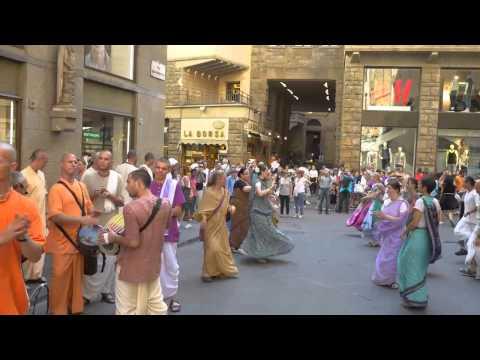 Harinama Yatra Nitay Gauranga ITALIA - FIRENZE June 28