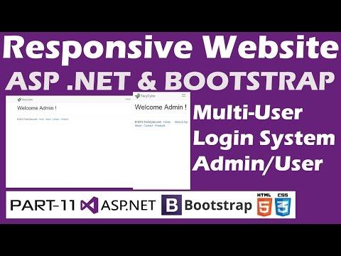 Responsive Website - ASP .NET & Bootstrap - Part 11 - Multiuser Login System|Admin Or User
