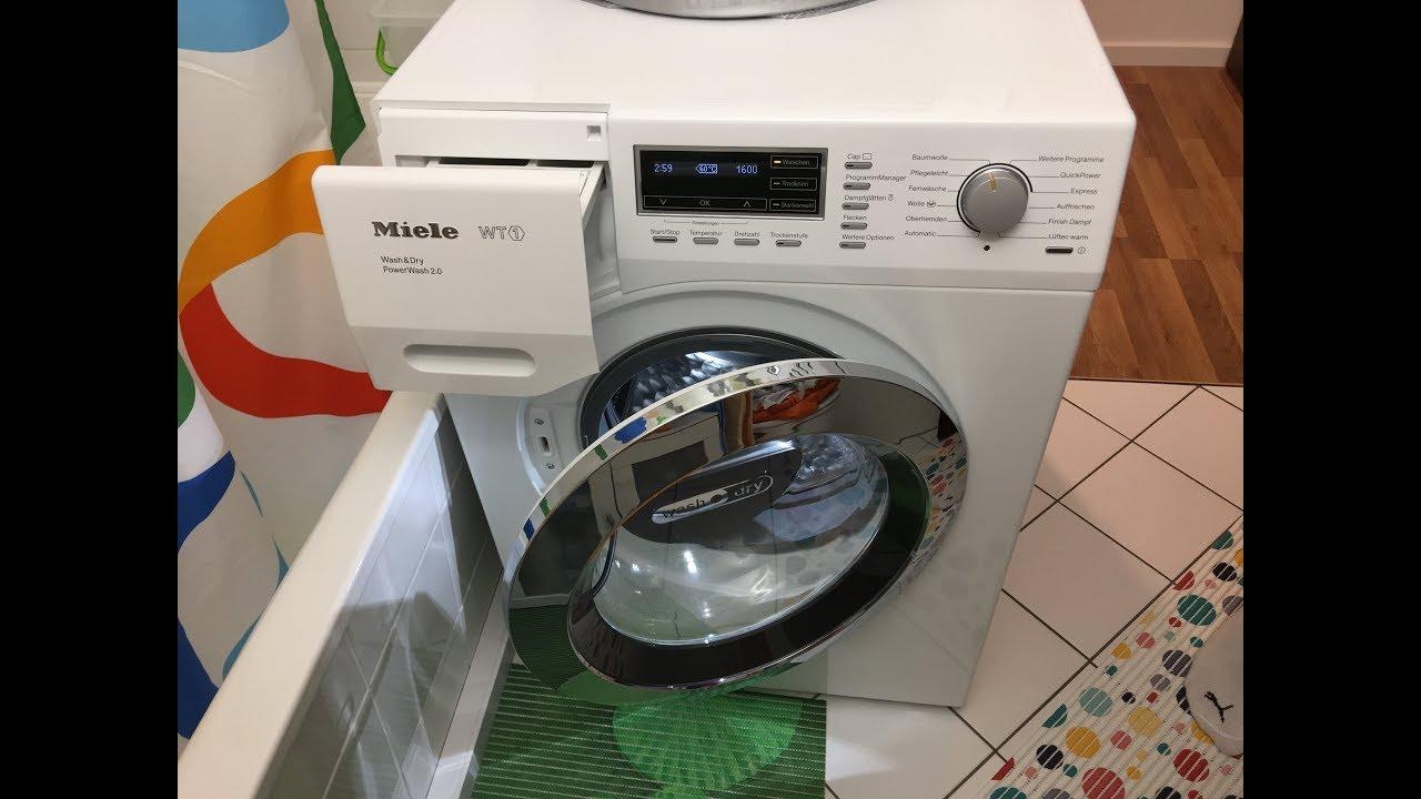 Miele wt waschtrockner washer dryer wtf wpm schleudern