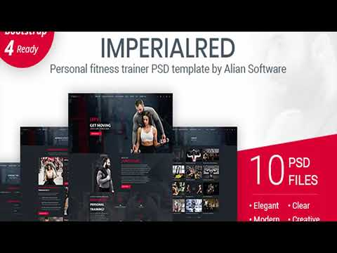 imperialred personal trainer website psd template themeforest