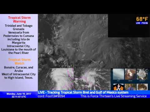 Tropical Storm Bret Live Coverage (June 19, 22:00 UTC)
