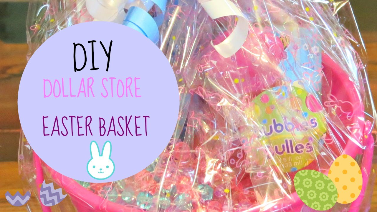 3 min diy dollar store little girls easter basket youtube negle Choice Image