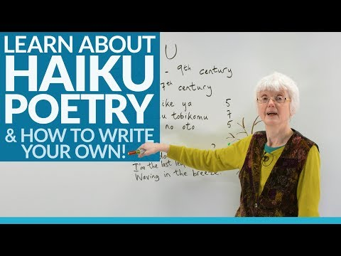 Learn to write poetry: THE HAIKU