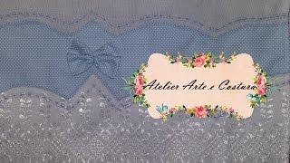Barrado de poá azul