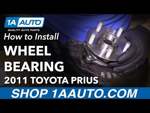 How to Replace Front Wheel Bearing Hub Assembly 10-15 Toyota Prius
