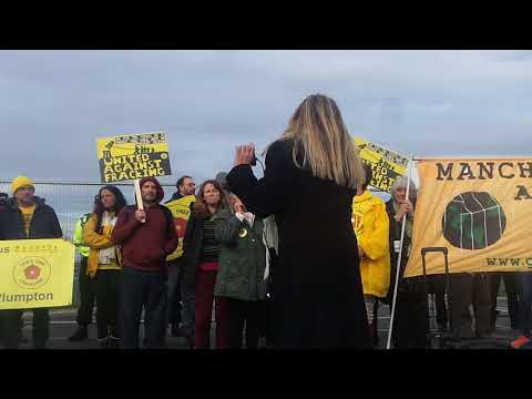 Preston New Road Anti Fracking Tina Rothery - 107 News