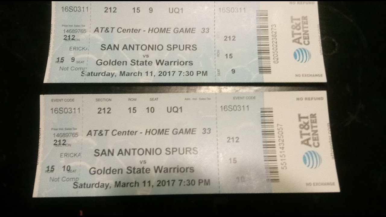 San Antonio Spurs Vs Golden State Warriors Tickets For Sale Youtube