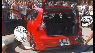 VW Golf 5 GTI Launch Control - REV Limiter Exhaust Sound - Hunedoara Tuning Event 2017 - by Adi Gros