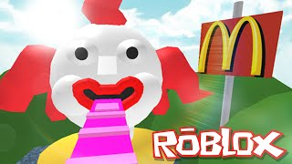Roblox Adventures / Escape Mcdonalds Obby / Eaten By An Evil Clown!