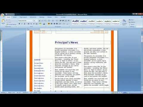 How to Make a Newspaper in Microsoft Word 2007