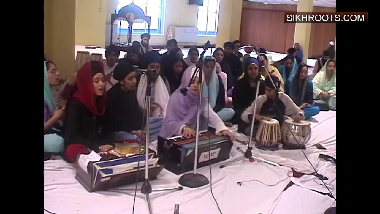 Kirtan & Simran by Bibi Rajvinder Kaur (Leeds) - Leicester Akhand Jaap 2005