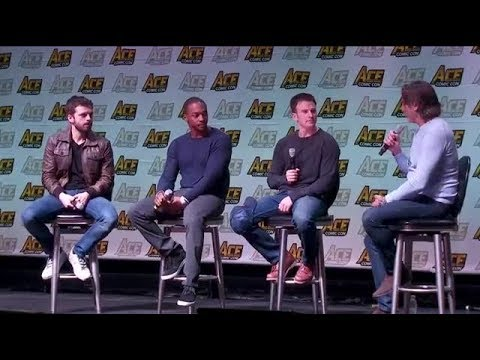 Sebastian Stan, Chris Evans and Anthony Mackie at ACE comic con