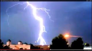 Massive lightning bolt during dry thunderstorm in Mesquite Nevada