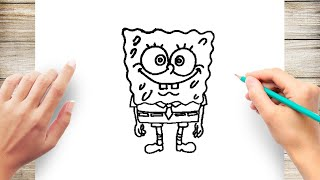 How to Draw Spongebob Square Pants Step by Step