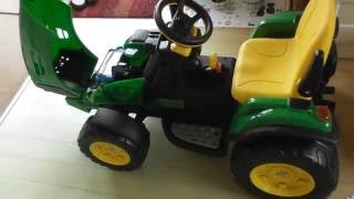 How to assemble Per Perego John Deere ground force Childrens ride on Tractor toy part 4 of 4 29Jul16
