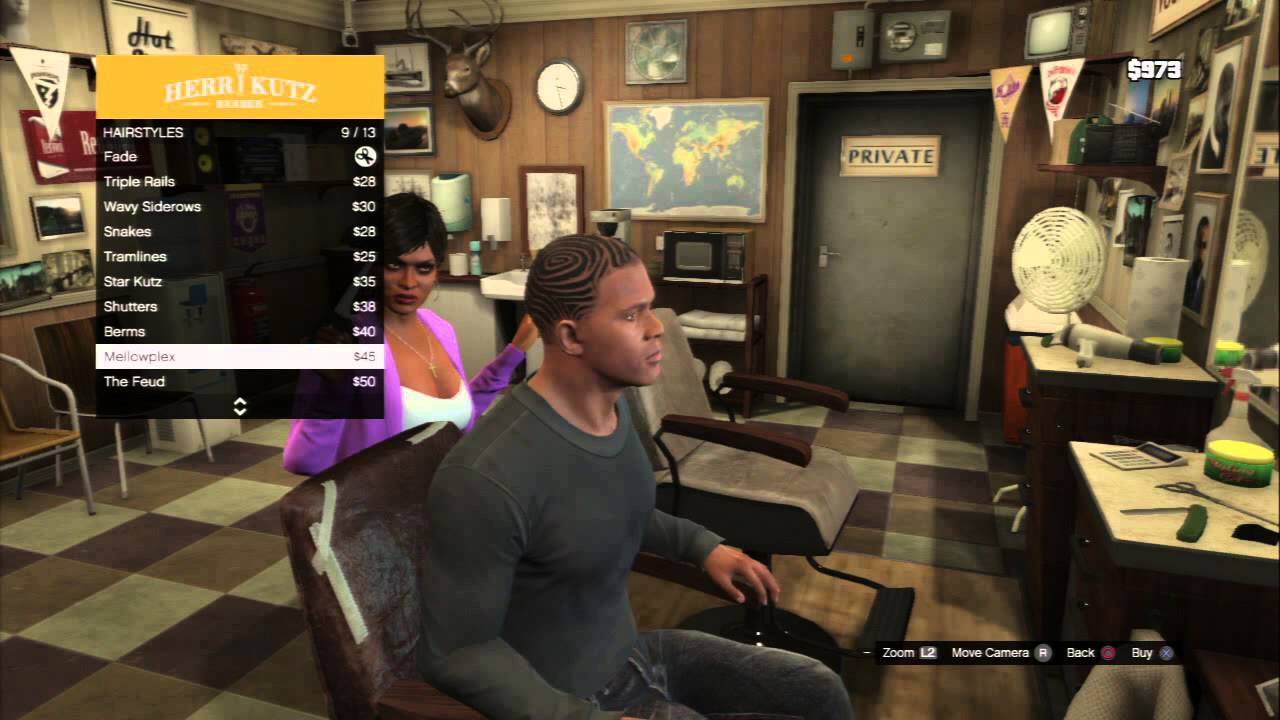 Barber Shop Games : Grand Theft Auto V - Barber Shop Herr Kutz Barber: Lo Fro & Sparton ...