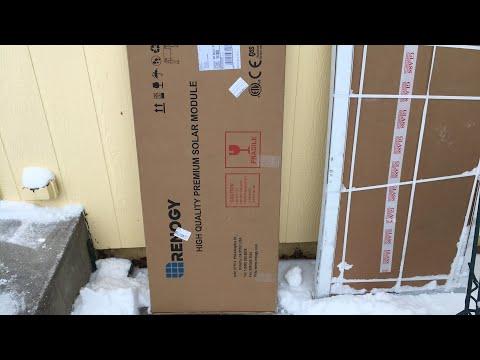 Unboxing Renogy eBay returned $110 100 w solar panel