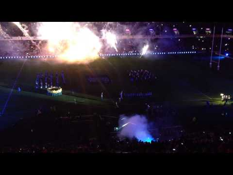What a Scottish entrance at Murrayfield, Scotland vs Australia Nov 2013