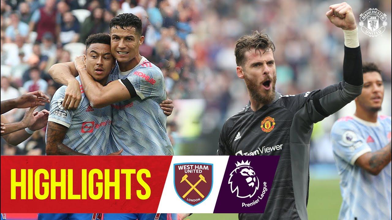 Download De Gea wins dramatic match for Reds after Ronaldo goal & Lingard stunner | West Ham 1-2 Man Utd