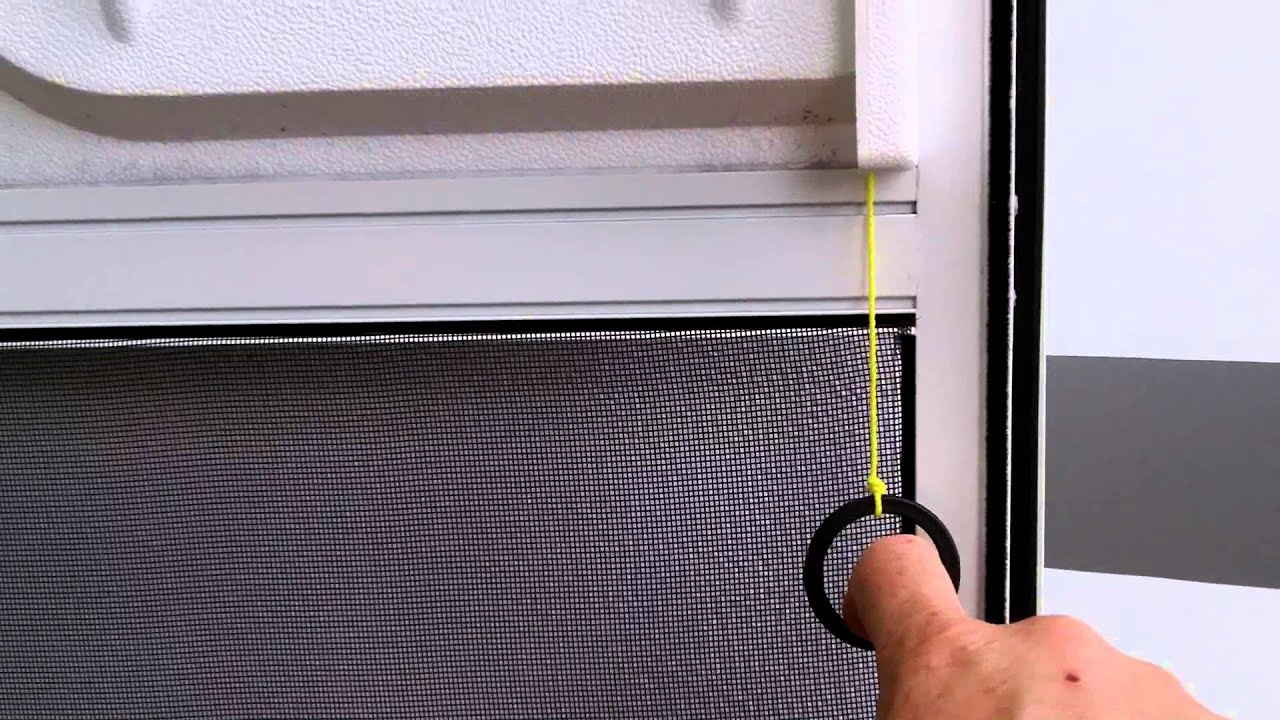 Rv Screen Door Latch Pull Cord Gadget Youtube