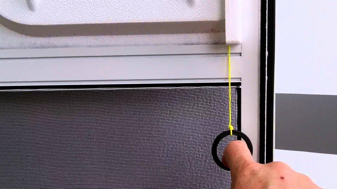 RV Screen Door Latch Pull Cord - YouTube