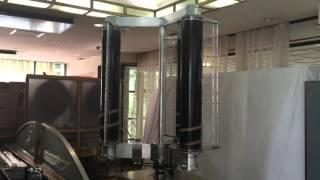 チャレナジー_垂直軸型マグナス風力発電機_風洞実験用試作機 実験動画