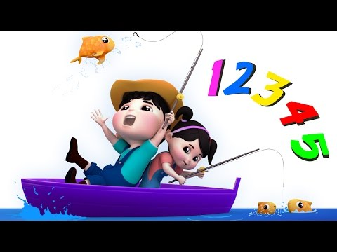 12345 Once I Caught a Fish A  Numbers Song  Counting Song  Nursery Rhymes  Farmees S01E167