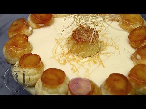 TARTA SAINT HONORÉ | Con hojaldre, profiteroles y crema chiboust