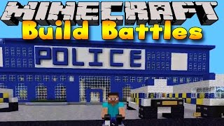 Minecraft - BUILD BATTLES - POLICE CARS & FAIRIES!