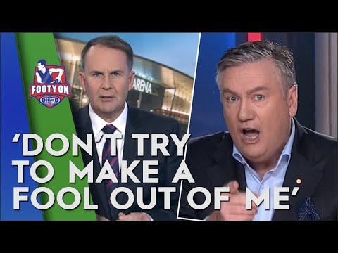 Eddie McGuire And Tony Jones Face Off On Live News Bulletin   Footy On Nine