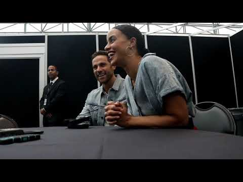 NYCC 2018   MIDNIGHT, TEXAS  Dylan Bruce and Parisa Fitz Henley