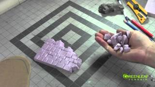 How to carve Pink Foam: Irregular Brick Pattern