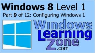 Microsoft Windows 8 Tutorial Part 09 of 12: Configuring Windows 1